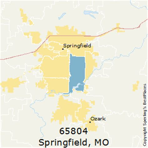 zip code map springfield mo best places to live in springfield zip 65804 missouri