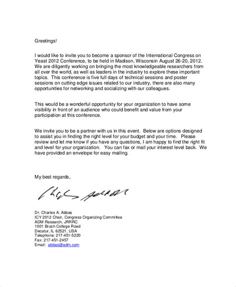Compromise Agreement Letter Sle Sle Sponsorship Letter 100 Event Sponsorship Request
