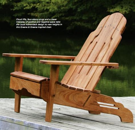 greene  greene style adirondack chair plans