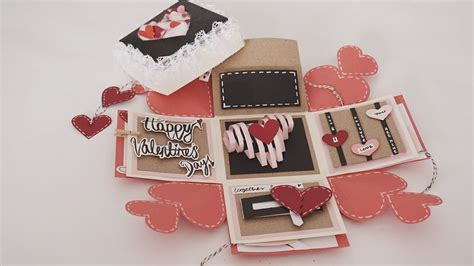 s day card boxes valentines day exploding box card tutorial my crafts