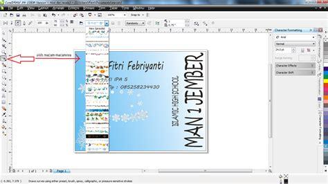 buat kartu nama coreldraw enjoy reading cara membuat kartu nama dengan