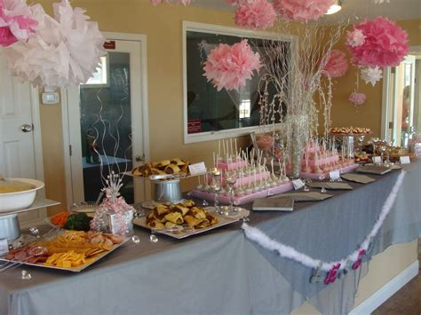 wedding shower food table   Entertaining   Pinterest