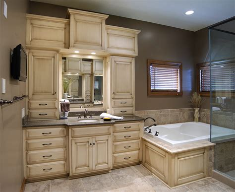 make bathroom vanity from kitchen cabinets mullet cabinet custom master bathroom suite