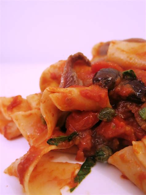 wann muss tomaten sã en papardelle mit sardellen kapern oliven la cucina vera