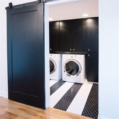 Black Door Cottage Laundry Room Wesley Ellen Design Black Laundry