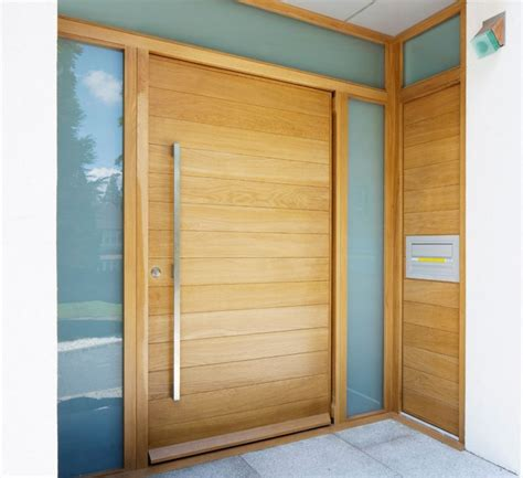entrance doors semi solid horizontal slatted pivot door 1200 x 2032