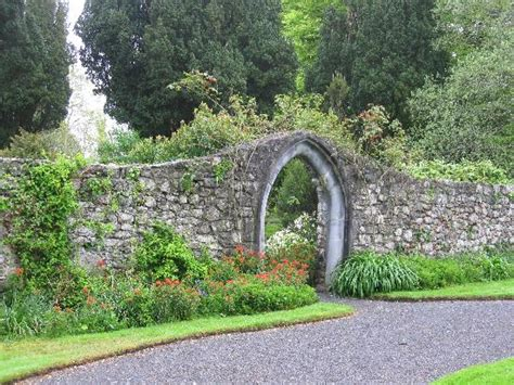 garden wall pictures garden wall picture of ross castle county galway