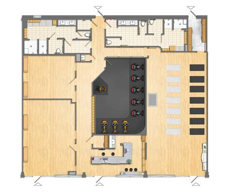 fitness center floor plan floor plan fitness center 2d colored by talens3d on