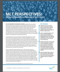 Mlt Mba Focus by Minority Student Confidence In The Tech Sector