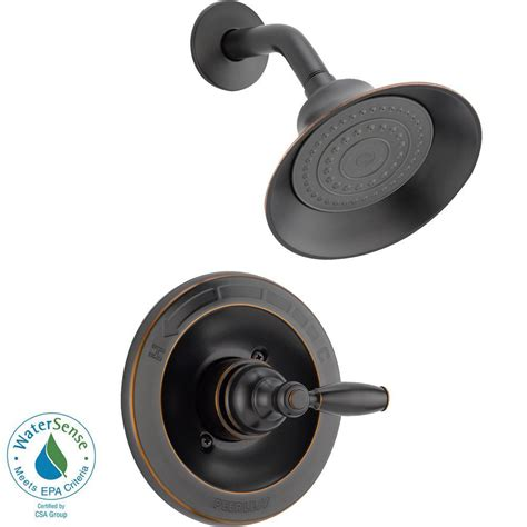oil rubbed bronze bathtub faucet peerless single handle shower faucet trim kit in oil rubbed bronze valve not included