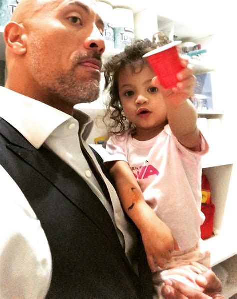 dwayne johnson the rock daughter dwayne the rock johnson and daughter in a battle of