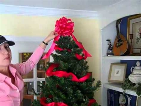 utube how to wrap ribbon around the tree how to decorate a tree using ribbons and bows