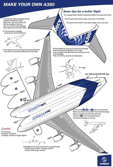 How To Make A Paper Airplane Model - weekend build your own a380 things with wings