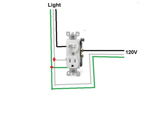 3 way switch outlet combo wiring diagram get free image