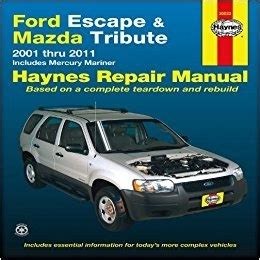 small engine service manuals 2001 mazda tribute electronic throttle control ford escape mazda tribute 2001 2007 repair workshop