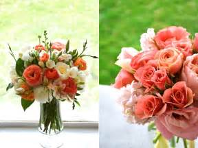 coral colored flowers coral flower arrangements 187 calie