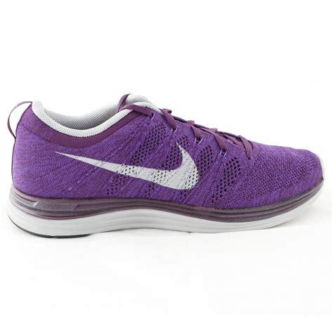 nike flyknit lunar 1 running shoe purple