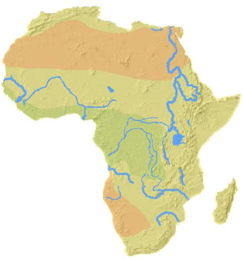 rivers of africa map aas 101