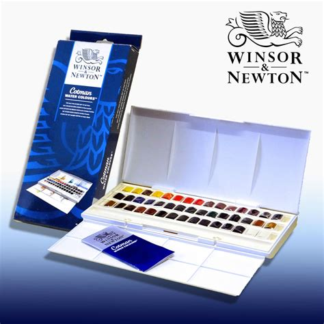 Harga Water Colour winsor and newton cotman 45 half pan watercolour set ebay