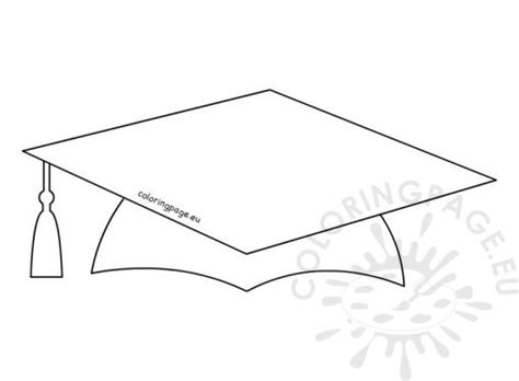 printable graduation cap template school coloring page