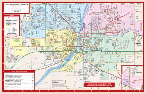 map of joliet il joliet junior high school map 12 for of illinois district