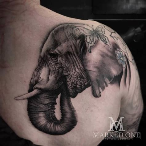animal tattoo chest the 25 best realistic elephant tattoo ideas on pinterest