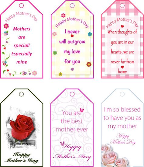 free printable gift certificates for mother s day image gallery mother s day gift tags