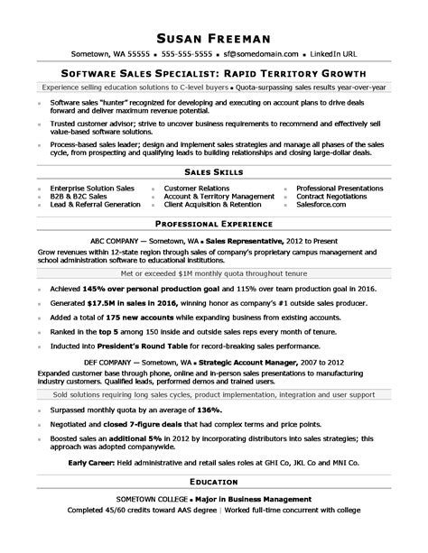 sales associate resume sle monster com