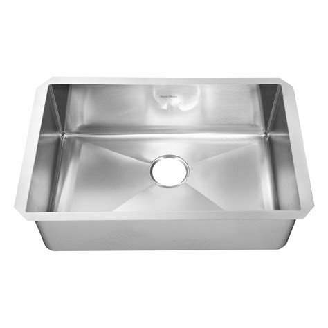 American Standard Stainless Steel Kitchen Sinks Shop American Standard Prevoir 18 Single Basin Undermount Stainless Steel Kitchen Sink At