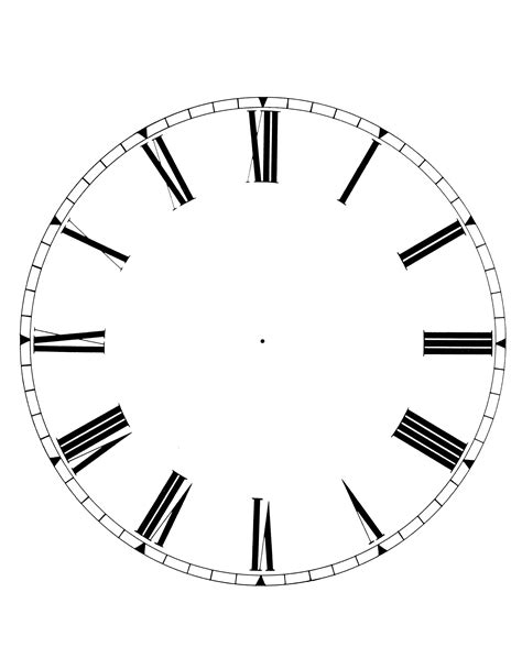 printable clock face download printable blank clock face clipart best