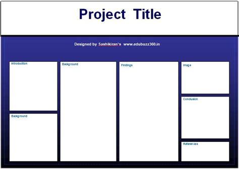Professional A3 Templates For Project Poster Presentation A3 Powerpoint Template