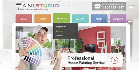 House Painting Bootstrap Responsive Theme Gridgum House Painter Website Template