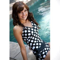 Geos Albian Green Polka albion swim suit big polka top black white two tankini and bottoms i the polka dots