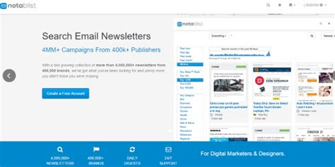 Free Email Search Engine Search Engine To Search For Email Newsletters Notablist