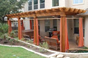Outdoor Curtains For Pergola Pergola Privacy Curtains Outdoor Living