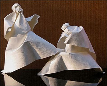Folded Paper Figures - paper portraits origami figures pix o plenty