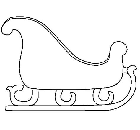 sleigh coloring page coloringcrew com