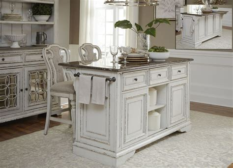 antique white kitchen island magnolia manor antique white kitchen island set from liberty coleman furniture