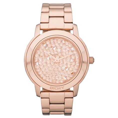 Dkny Dk033 Pink Rosegold lyst dkny gold tone stainless steel bracelet 44mm in pink