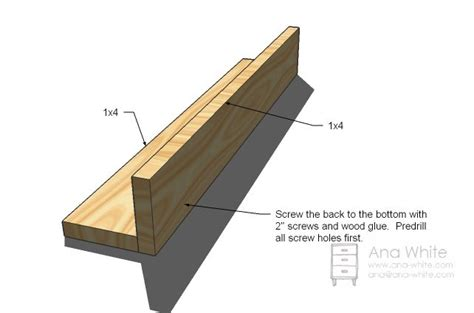 white build a ten dollar ledges free and easy diy