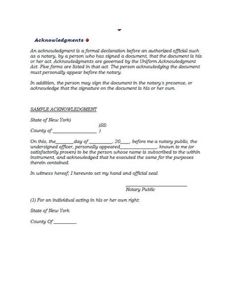 signed document template 30 professional notarized letter templates template lab