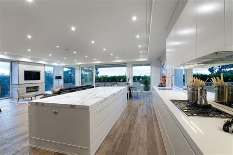 modern kitchen designs melbourne duchateau floors marshall white penthouse modern