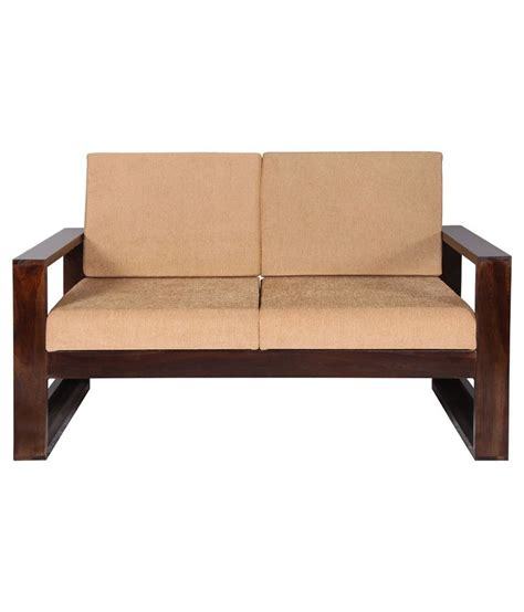 Wooden 2 Seater Sofa by Sheesham Wood 2 Seater Sofa In Brown Buy At Best