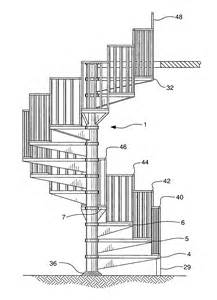 Handrail Kit Patent Us20080236066 Segmented Spiral Staircase And Kit