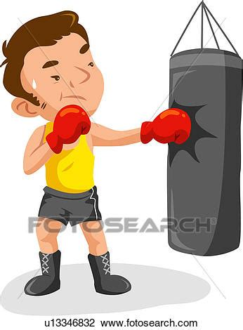 fotosearch clipart clipart of boxer sports age sand bag athlete