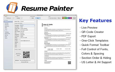 Resume Apps For Imac Resume Painter Best Apps And