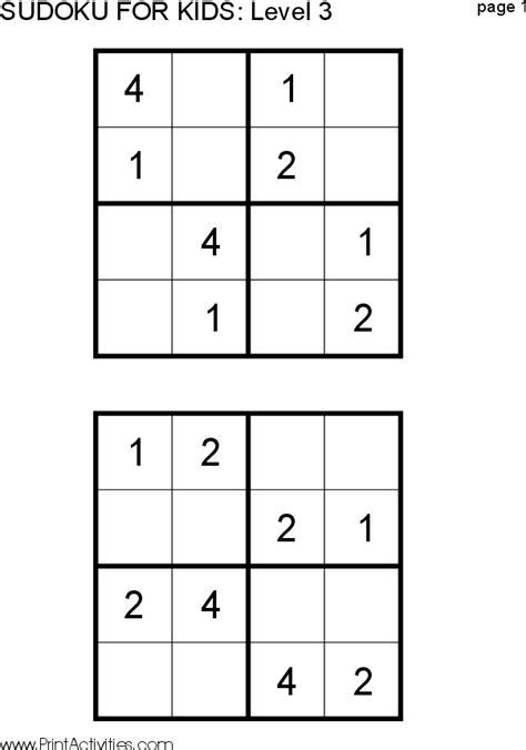 printable kid sudoku puzzles sudoku pictures posters news and videos on your