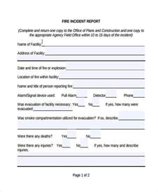 Fire Incident Report Template Incident Report Form Example