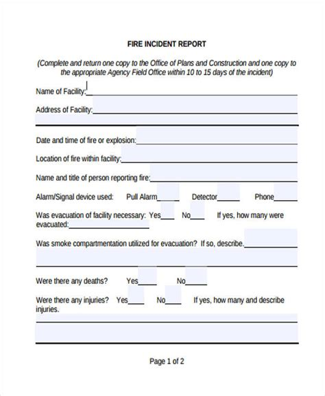Incident Report Memo Exle incident report template uk 28 images 29 incident