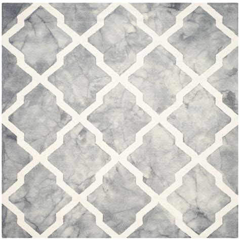 7 foot square rug safavieh dip dye grey ivory 7 ft x 7 ft square area rug ddy540c 7sq the home depot